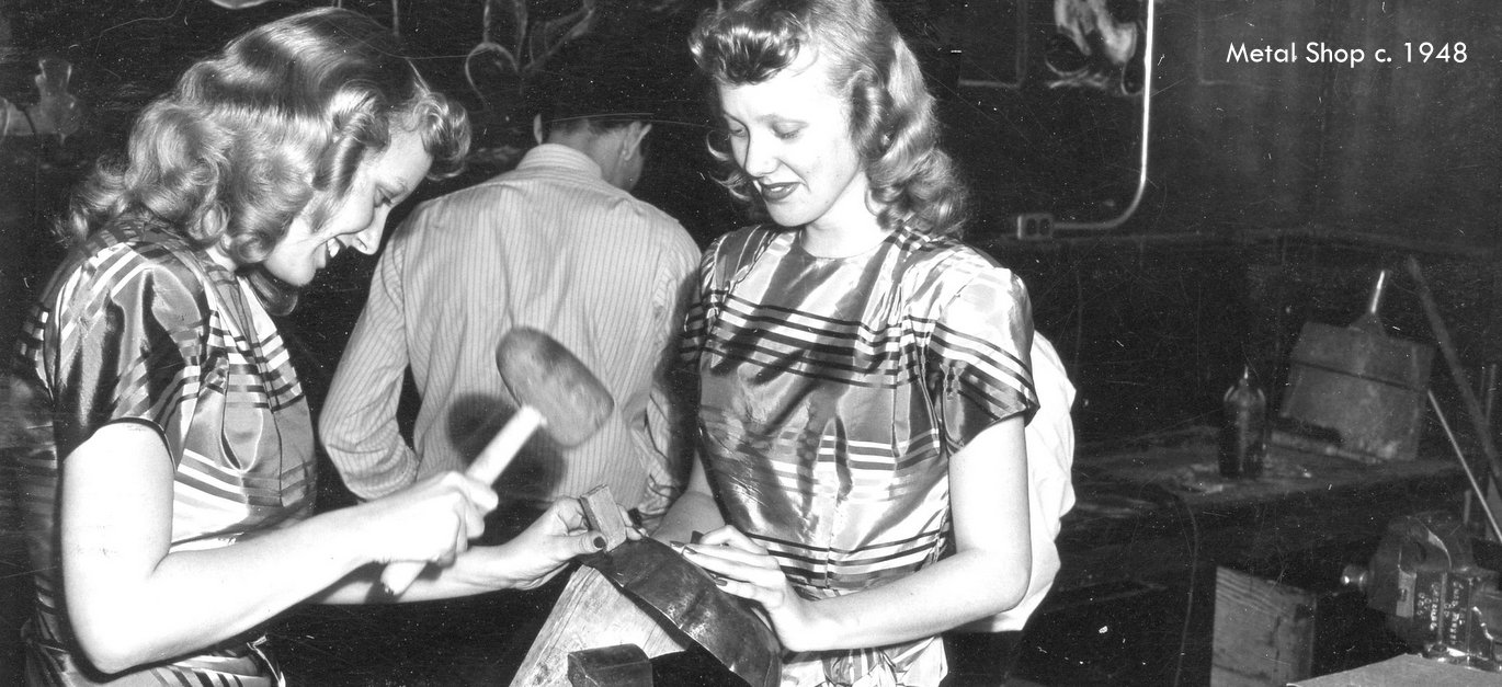 Washington High School metal shop 1948