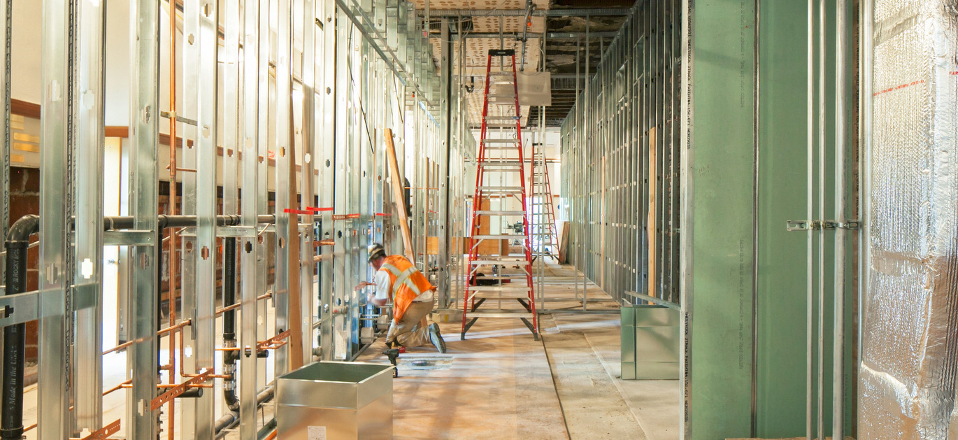washington high school interior wall construction portland oregon PDX