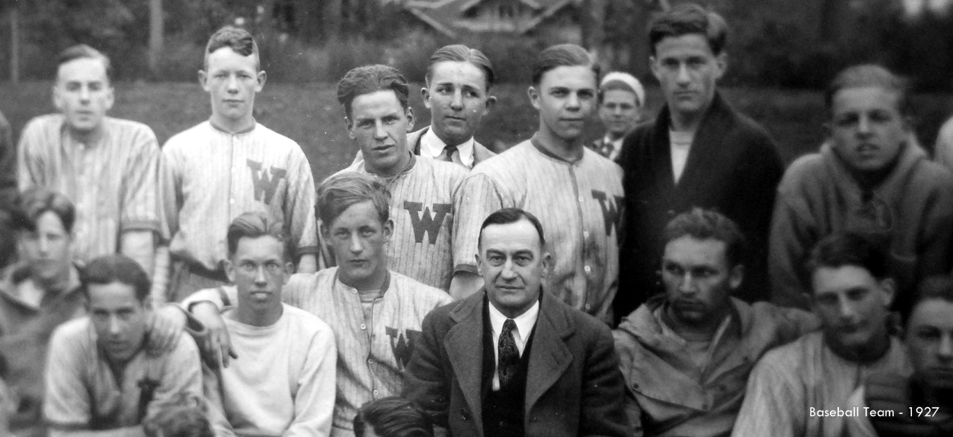 Washington High School Basebell team 1927 Historic Photo Portland Oregon PDX