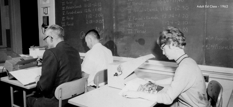 washington high school adult ed class historic photo 1960 portland pdx