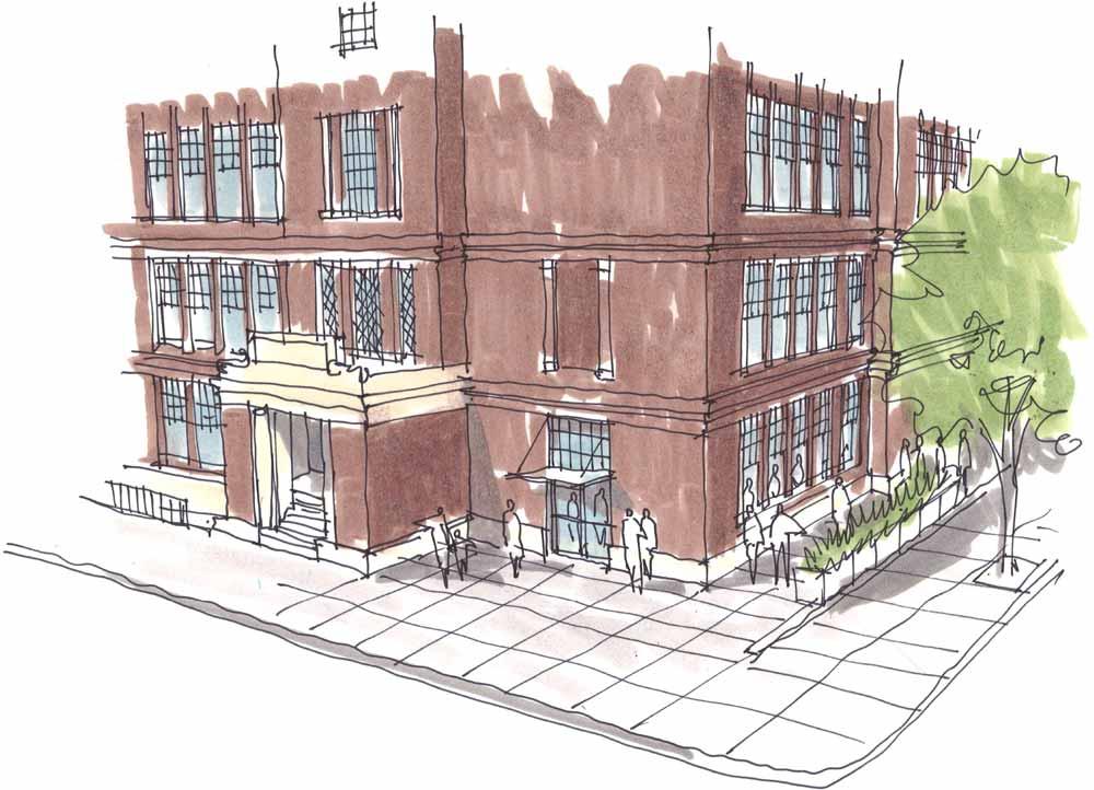 Rendering of Washington High School