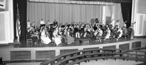 washington high school portland auditorium orchestra students historic B&W