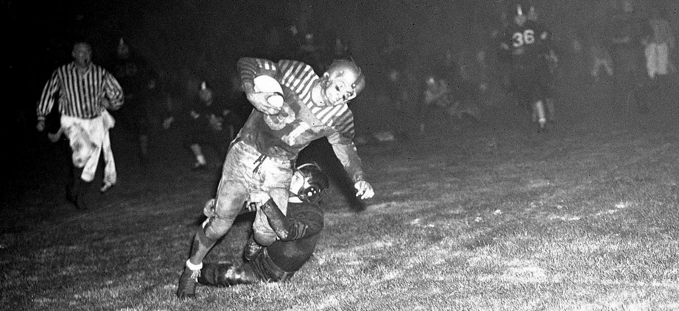 washington high school portland pdx football historic B&W photo