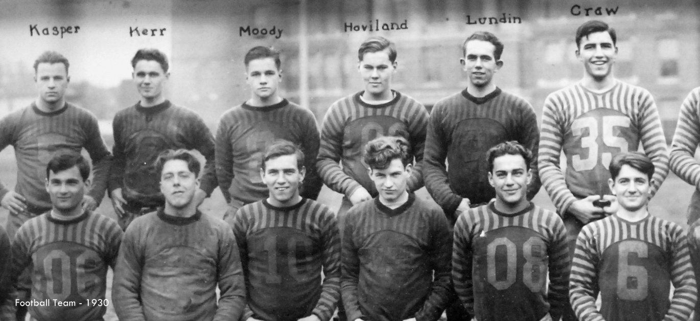 Washington High School Football Team historic photo Portland Oregon PDX 1930