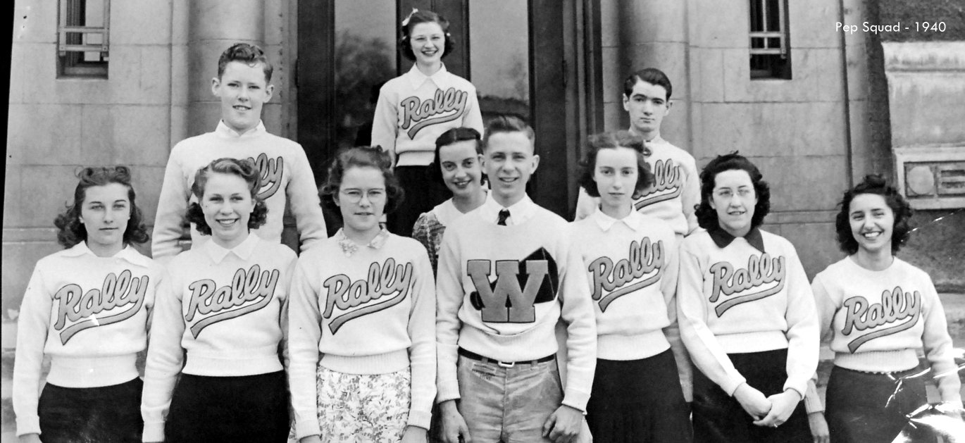 Washington High School Pep squad 1940 historic photo Portland Oregon PDX