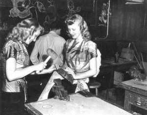 Washington high school metal shop students girls