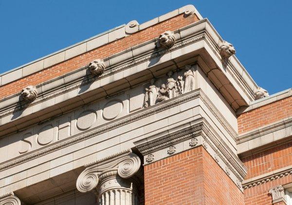 Washington High School Portland Oregon PDX Historic Cornice