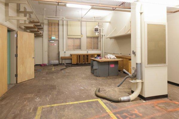 Washington high school shop classroom before renovations