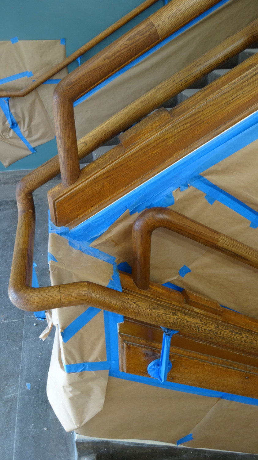 Close up of original woodwork