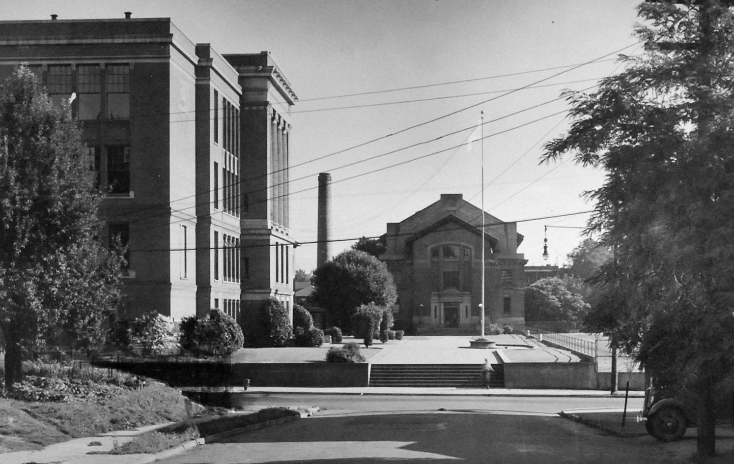 Campus in the 1930s.