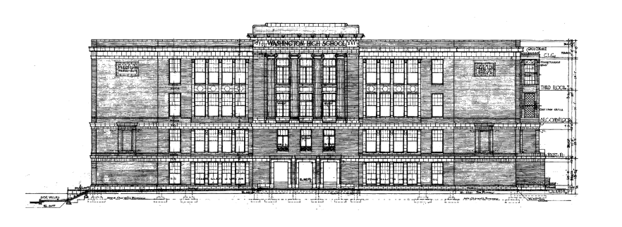 School elevation drawing